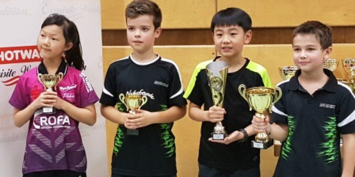 Siegerfoto im Nachwuchsbewerb bei den Wiener Tischtennis-Meisterschaften 2019